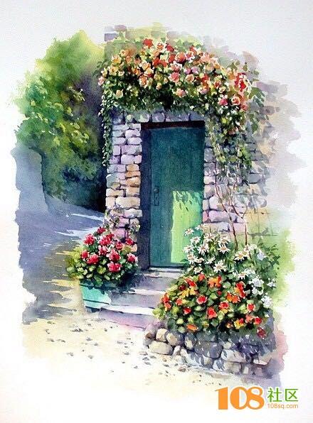 家门口的花