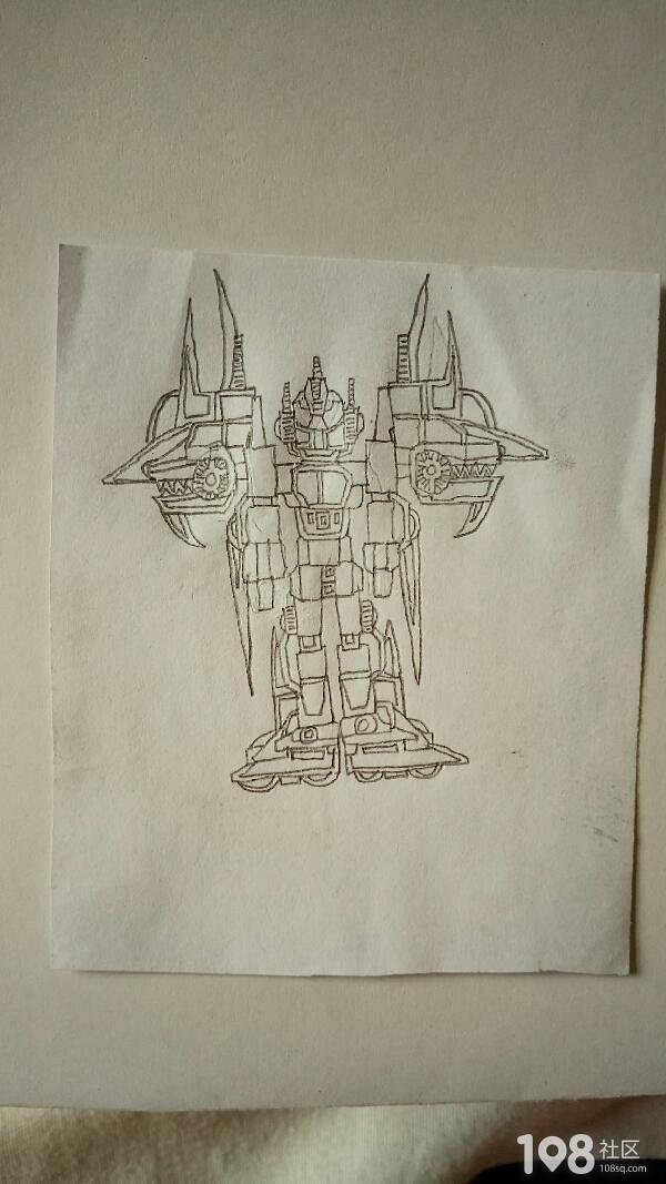 儿子画的机器人