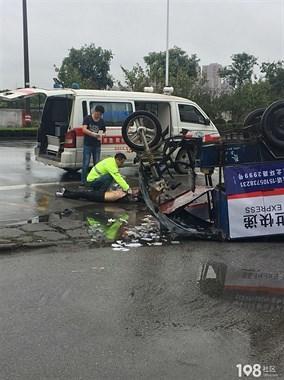 突发!平湖箱包城附近发生严重车祸,快递小哥被撞身亡