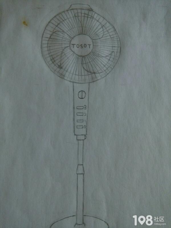 电风扇结构素描图片