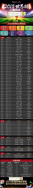 世界杯比赛时间表