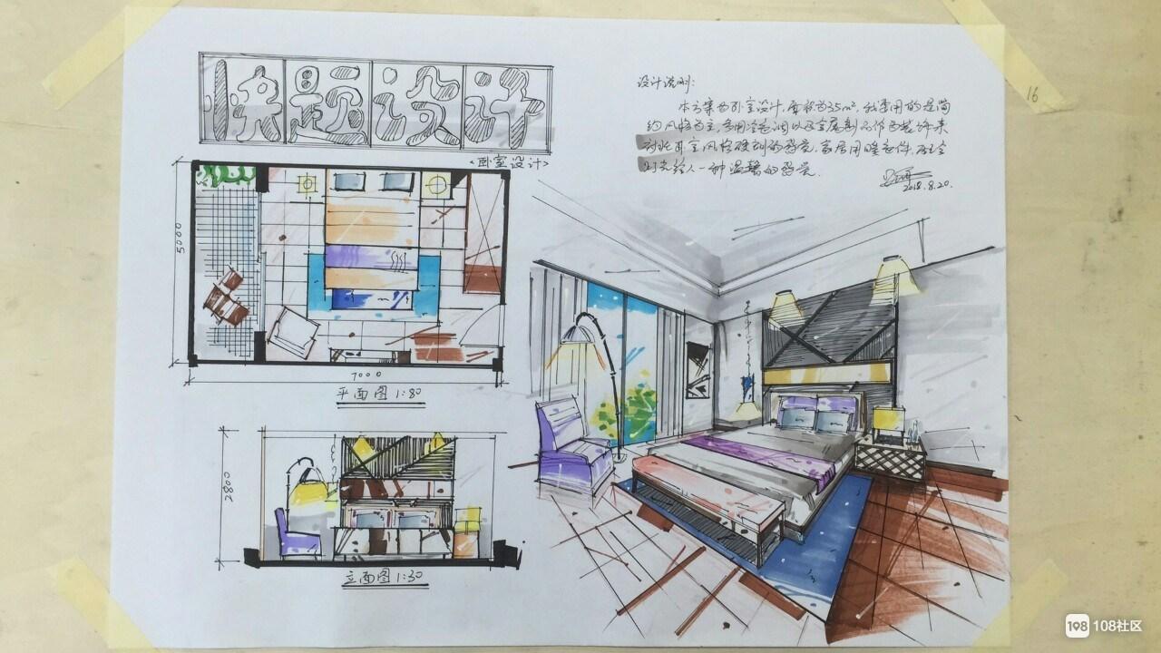 室内设计,学生手绘作品展,做教育我们是认真的.
