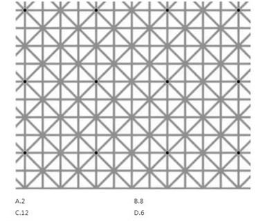 【答案公布】这张图很多人都看晕了!你看见了几个黑点?