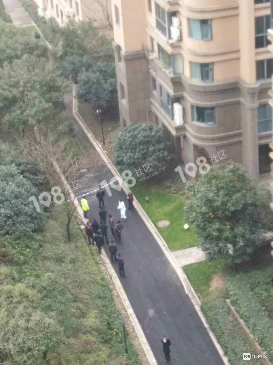 城南一男子从楼上摔下,现场警察、急救都到了