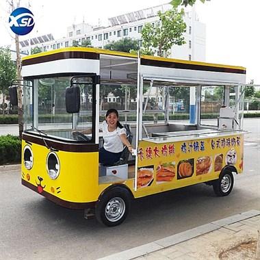 吉安电动餐车美食车小吃车定做