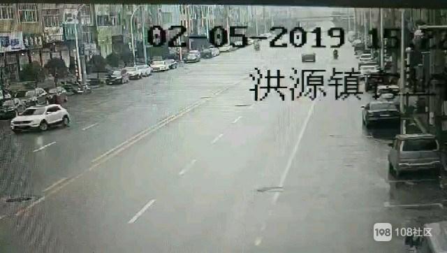 洪源镇车祸事故现场还原!行车记录仪拍下被撞全过程