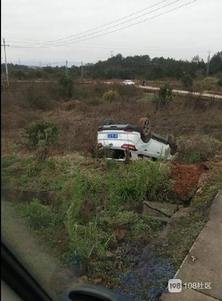 衢州一小车在田里翻车了,难道今年真流行开车下田?