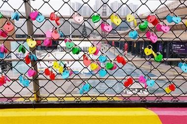 情人节的浪漫体验,同心锁缘,情燃冰雪