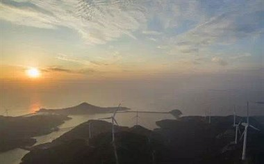 你知道吗?本岛西部岑港风电场一年发电达到这个数!