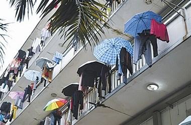 安吉难得出太阳,可以晒晒衣服,结果楼上邻居竟做出这种事…