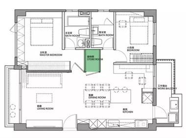 78平的简约风小户型二居室,灰色调加入木质感真舒适