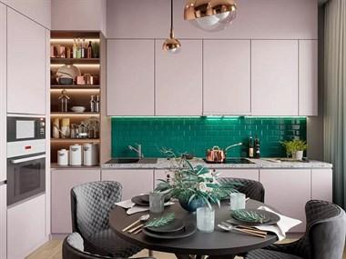 2019年厨房墙面流行这样铺瓷砖,别再只用小白砖了!