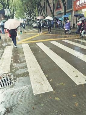 现在的娃是宝!新昌某中学放学门口,家长冒雨排队等