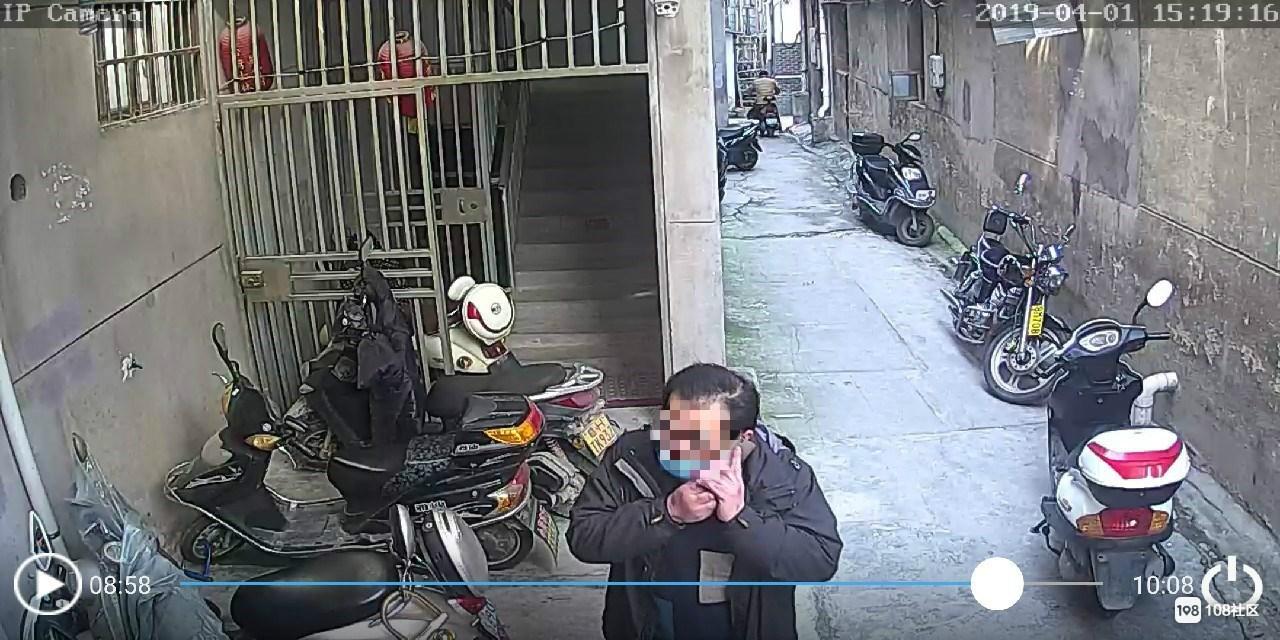 """才过没几天 瓷都又有偷车贼""""光顾""""我家!还戴口罩"""