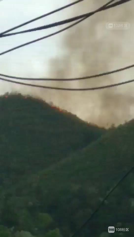 岚山路山上着火了!浓烟滚滚 火势越烧越大!