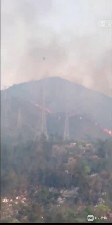 瓷都这些消防员上山灭火 连续12小时 注意安全!