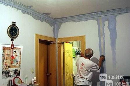 墙体漏水 物业不管 让自己接外墙管解决!