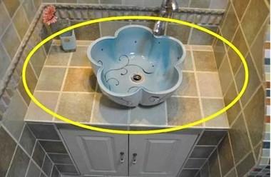 老爸亲自拿砖砌了个洗手台,老师傅都看愣了,用30年都不过时!