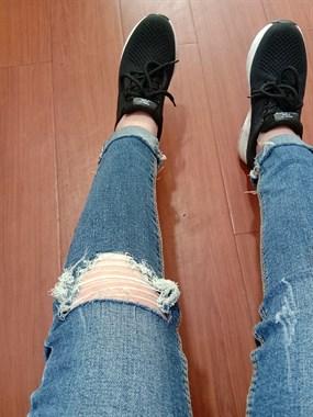 赶个时髦,自制破洞牛仔裤
