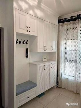 125平新房一进门就被迷住了,玄关做了两面柜真贴心!