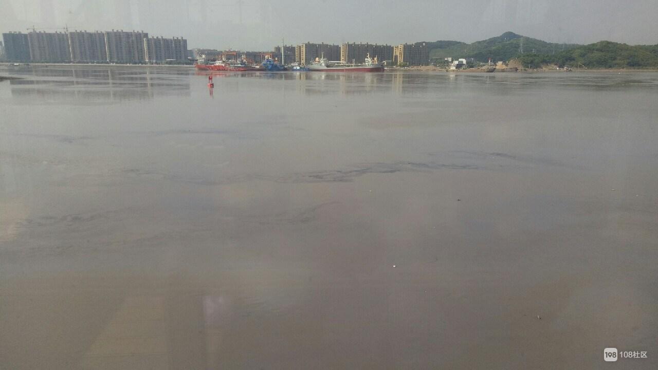 长峙岛海面现大面积油污  黑色触目惊心!