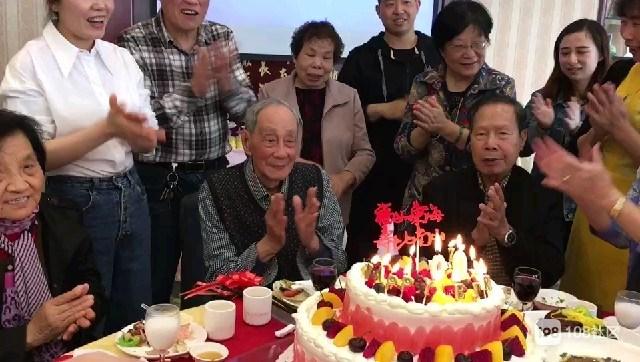 沾沾喜气!德清人家老人过百岁生日宴,众人齐聚来贺寿