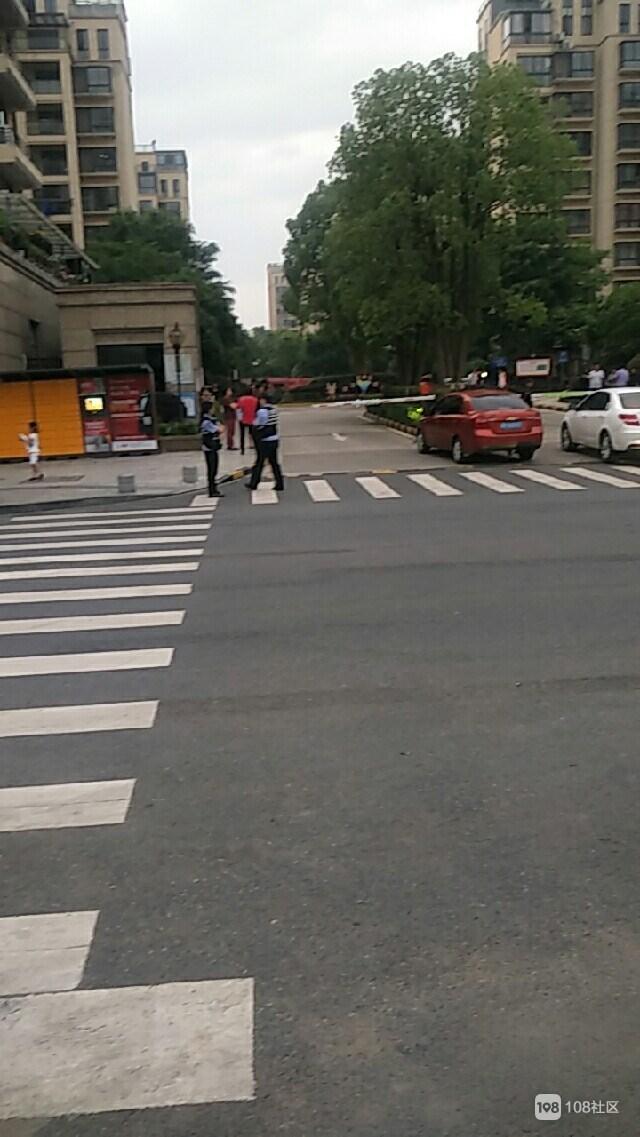 沈家绿江南门口围满了人,警察都来了(视频)