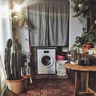 如何在小户型的阳台上打造一个洗衣区,都来看一下吧