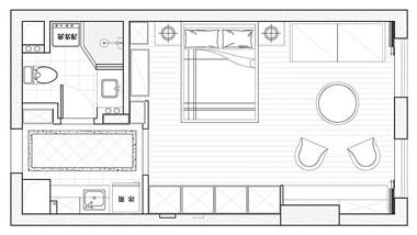 50平的美式风小户型公寓,给单身的自己准备舒适的家