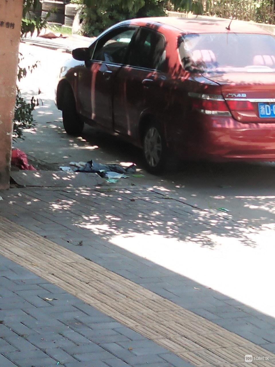 谢塘这桃树下有情况?衣服裤子扔在车旁 地上还有一堆纸巾