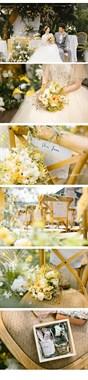 治愈系的柠檬黄,这样的户外婚礼,你喜欢吗?