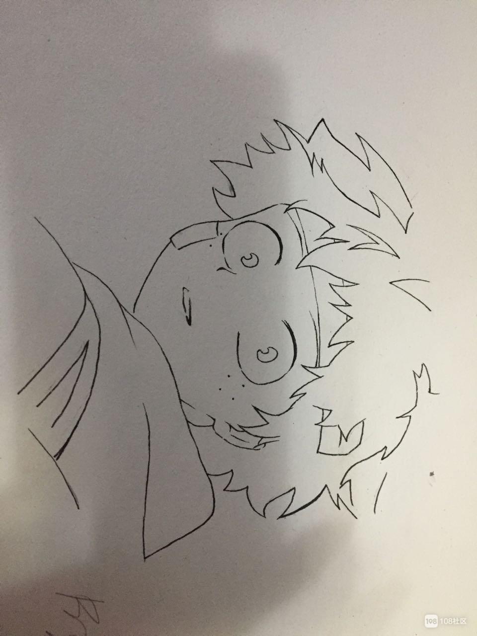 社友晒孩子的漫画,画得噶好!可第二张图好像不对劲