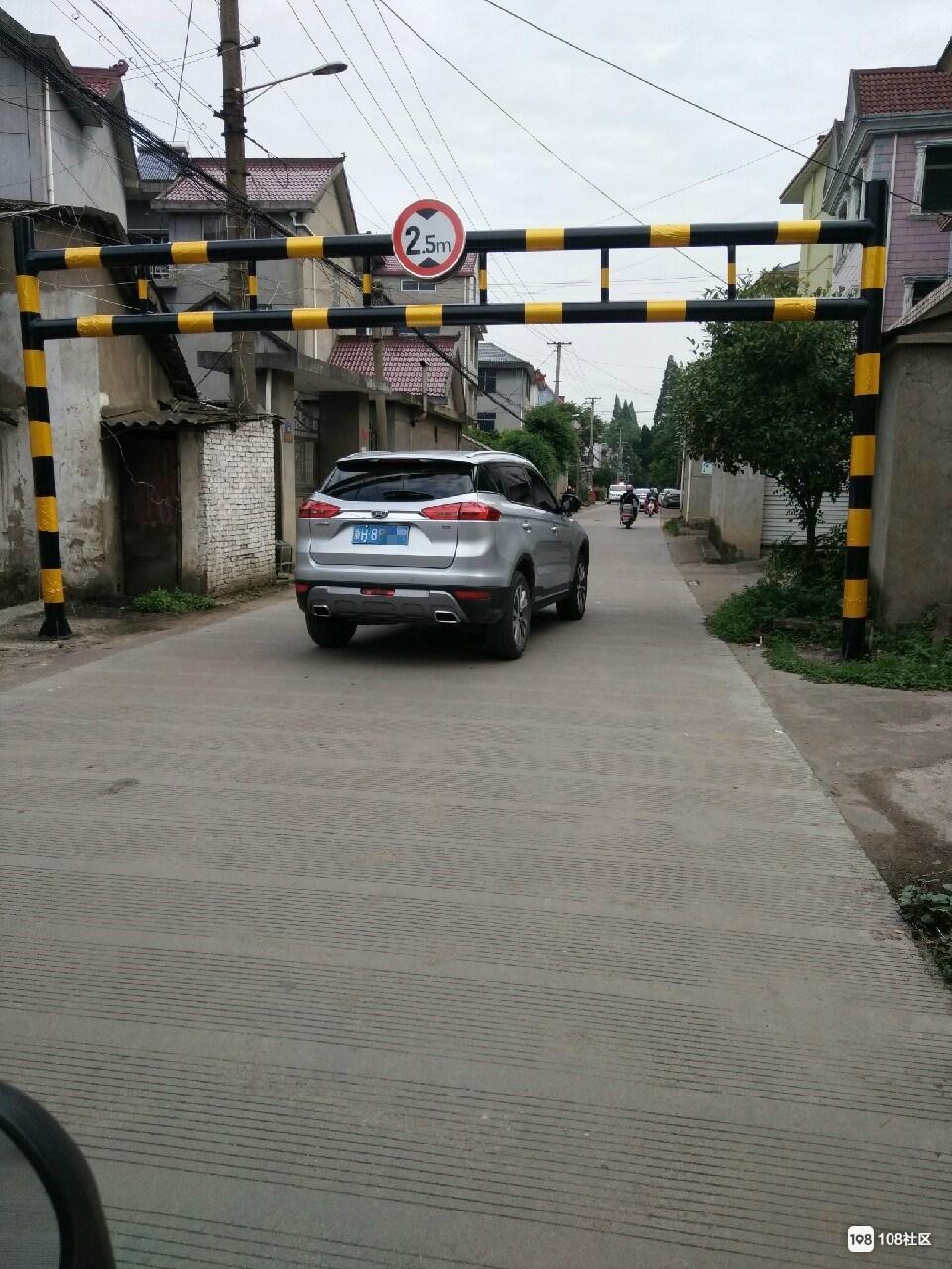 衢州这里的限高杆复原啦,大车司机注意绕行