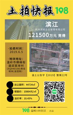 """成交价12.15亿!温岭城西宝龙项目隔壁""""金主""""诞生"""