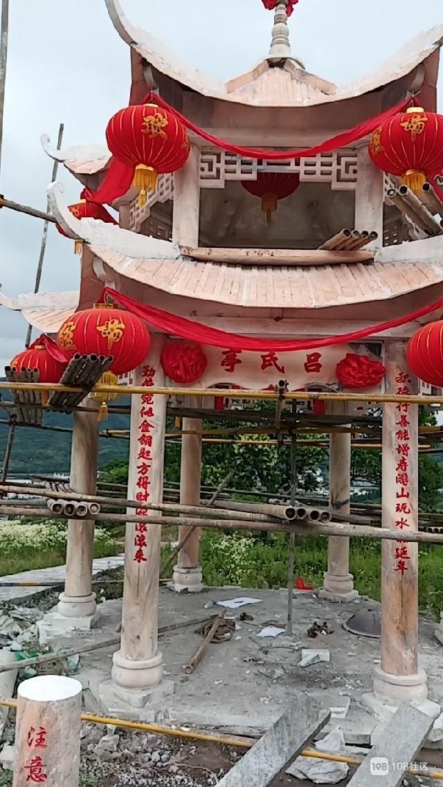 新昌吕氏造起介好庙宇供人纳凉,听说镜岭的这庙挺灵