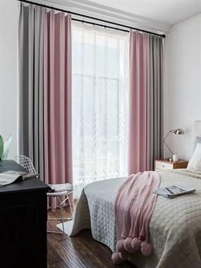 墙纸窗帘墙布走一波。窗帘自己动手加工