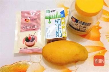 芒果冻自己在家就能做,做法简单又好吃,夏天的标配