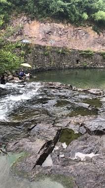 谷来路边的小溪里钓到嘎多石斑鱼,社友:介好地方这么多石斑