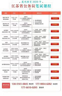 展鸿2020江苏省考课程