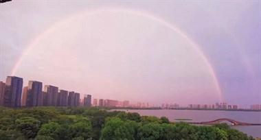 """昨天傍晚,绍兴人都被""""双彩虹""""和火烧云刷屏了!"""