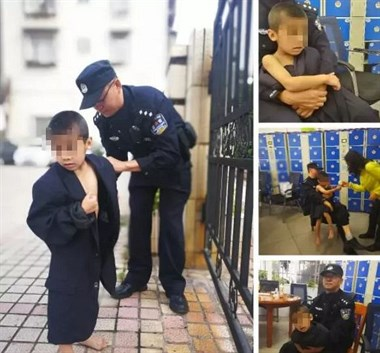 8岁男童大早上独自走在街头,警察找到他爸爸:在酒店睡觉呢!