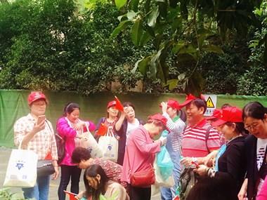 """康久医养参与小营街道组织重阳节老年人""""登吴山健步行""""活动"""