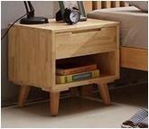 北欧实木床头柜和新中式实木大床