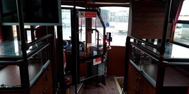 越城这批公交车整得跟上海滩一样,真皮座椅好大气!