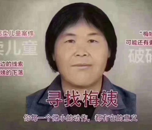 新昌朋友圈疯传人贩子梅姨最新画像,公安部辟谣了!