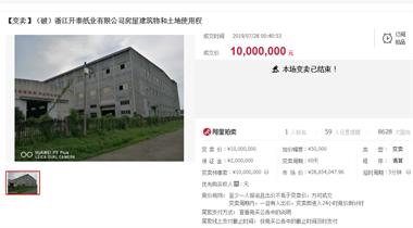 衢州这家公司破产了!厂房都在拍卖,看看是你老东家吗