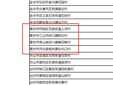 衢州这4个村被国家看中,要发达了!村里小伙还缺老婆吗