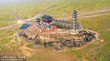 """鄱阳湖十年来最长极枯水期!千年古建筑从水中惊艳""""现身"""""""