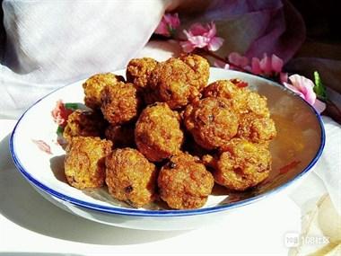 炸藕丸子,肉质饱满,粒粒飘香,大人小孩都爱吃