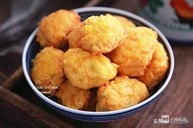 南瓜的新吃法,和面粉、鸡蛋一起做成丸子,比肉丸子还受欢迎